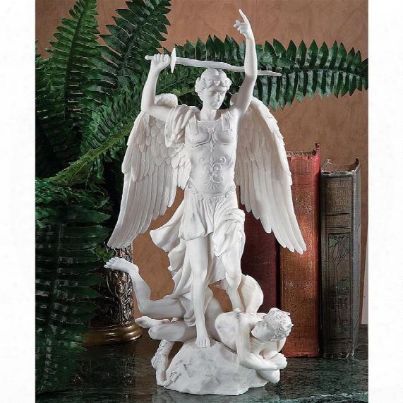 L'archange Saint Michel Bonded Marble Angel Statue