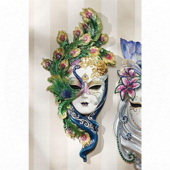 Mask Of Venice Wall Sculpture: Peacock Mask
