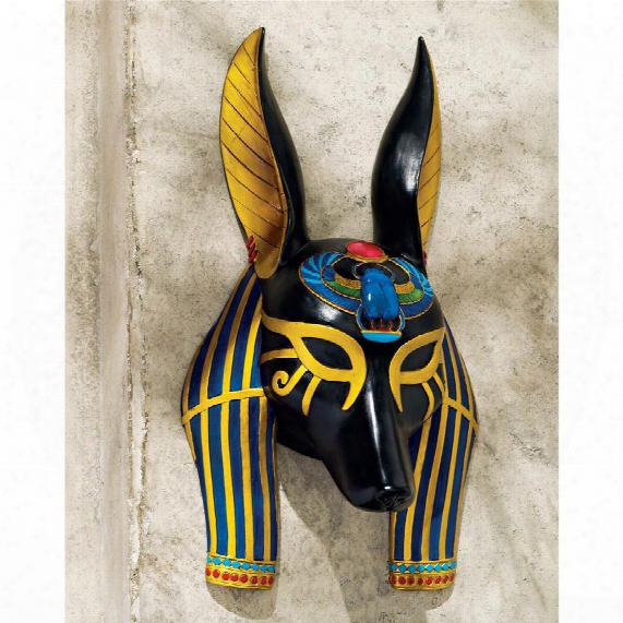 Masks Of Ancient Egyptian Gods: Anubis Wall Sculptures