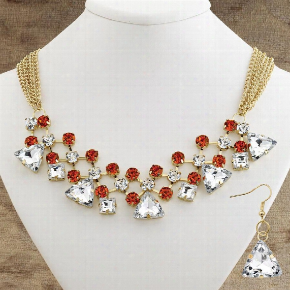 Milan Necklace And Earring Ensemble