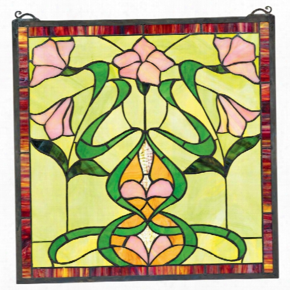 "Nouveau Lily"" Stained Glass Window"