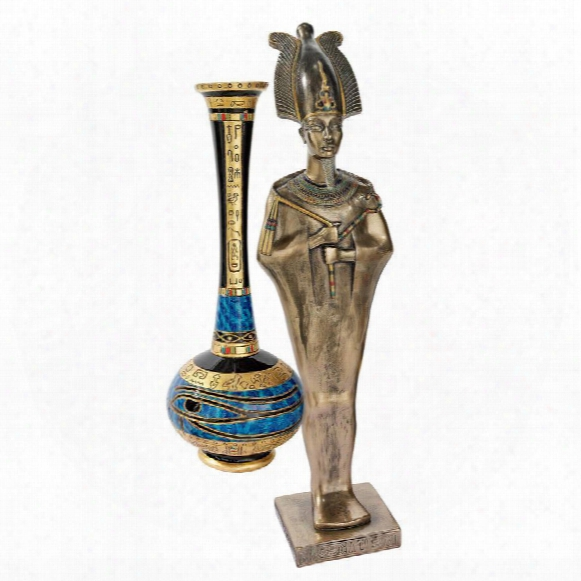 "Osiris, Egyptian God Of The Afterlife"" Statue"