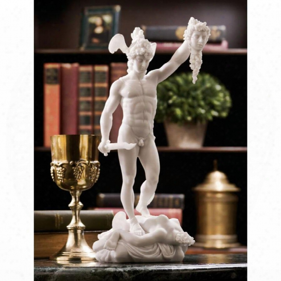 Perseus Beheading Medusa Bonded Marble Statue