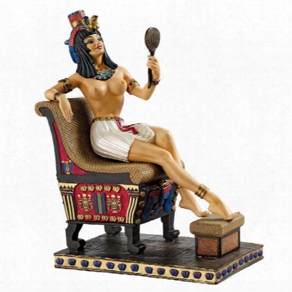 Pharaoh's Queen On The Throne Statue
