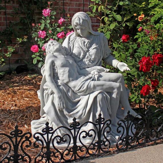 "Pieta"" Bonded Marble Statue: Estate Garden"