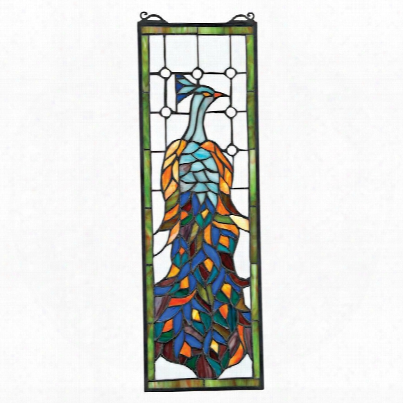 Pleasant Peacock Stained Glass Window