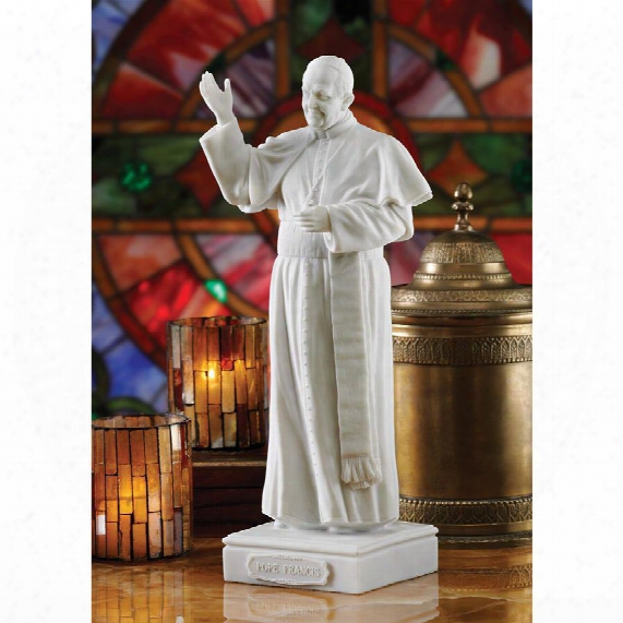 Pope Francis Bonded Marble Resin Statue