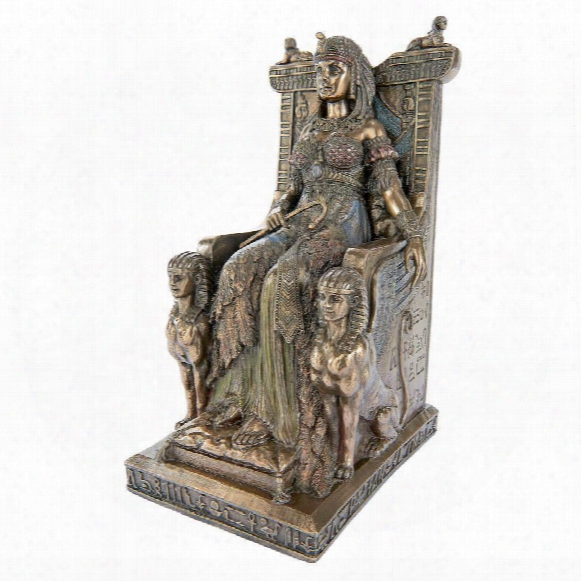 "Queen Cleopatra On The Egyptian Throne"" Statue"