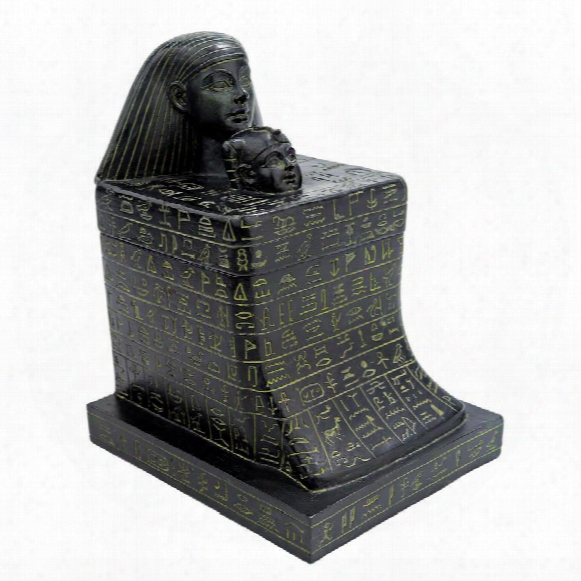 Senenmut With Neferure Block Sculptural Box