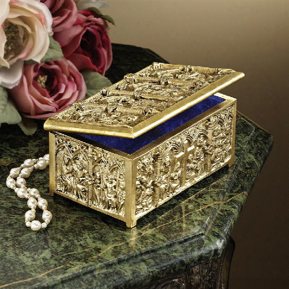 Solid Brass Cathedral Reliquary Box
