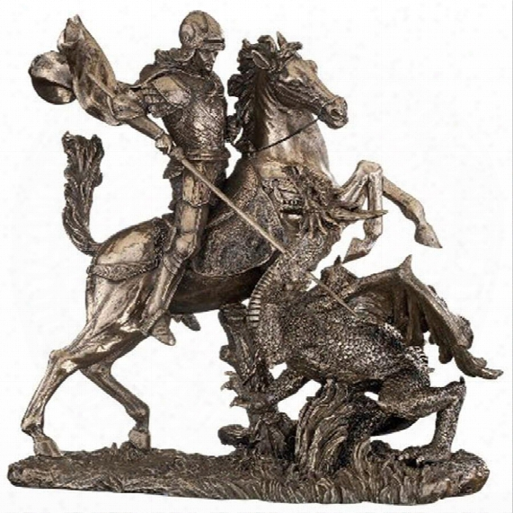 St. George Slaying The Dragon Sculpture