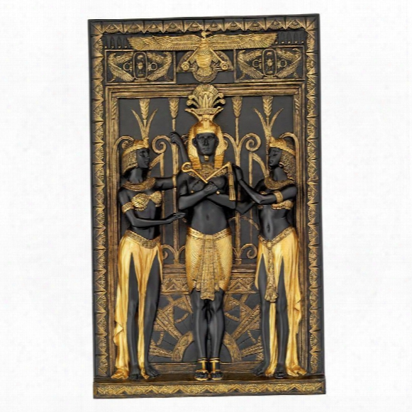 """The Egyptian Pharaoh And His Maidens"""" Wall Sculpture"""