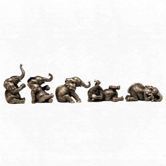 The Five Playful Pachyderms Sculptures