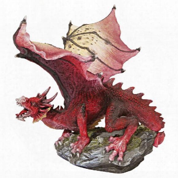 """The Red Devil"""" Dragon Statue"""