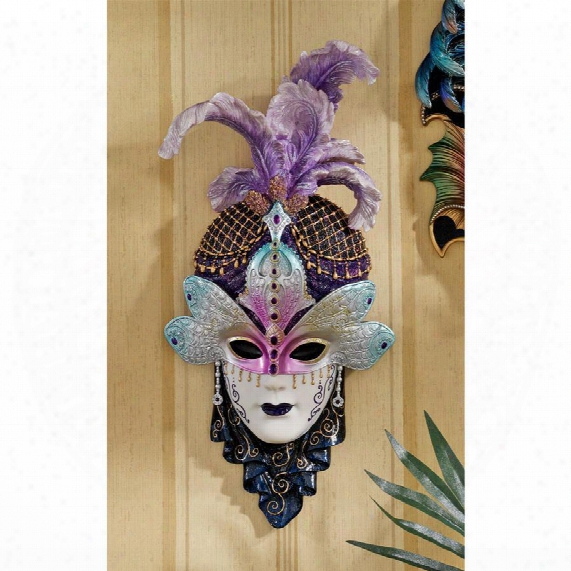The Venetian Masquerades Sculptural Wall Masks: Maiden Del Cortina