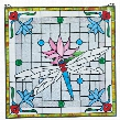 "Dragonfly Pond"" Stained Glass Window"