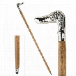 Empress Collection: Dog, Man's Best Friend Solid Hardwood Walking Stick