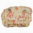 King Akhenaton, Nefertiti and Daughters Stele Wall Sculpture