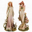 Spirit of Spring Flower Twins Statues: Fleurs du Printemps & Fleur d'Ete