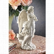 "Trumpeting Cathedral Angel"" Bonded Marble Resin Statue"