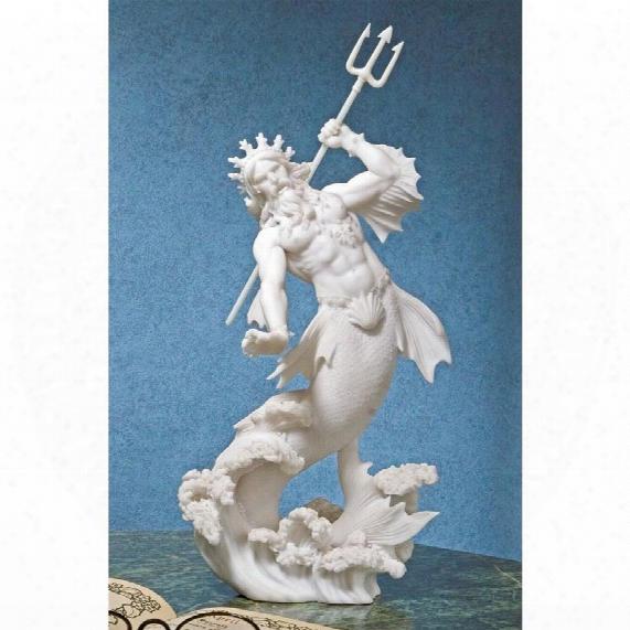 Triton, God Of The Sea Bonded Marble  Statue
