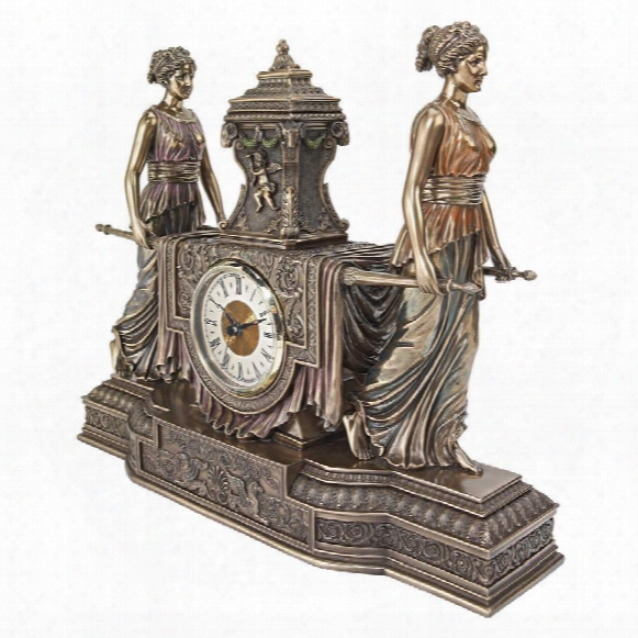 "Versailles Maidens"" Sculptural Mantel Clock"