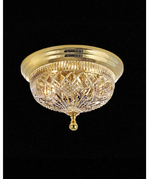 Beaumont 2 Light Flush Mount In Polished Brass
