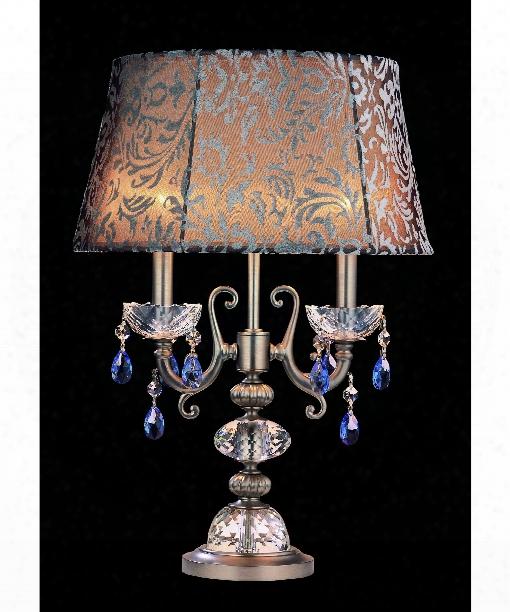 Bertali 2 Light Table Lamp In Brushed Nickel
