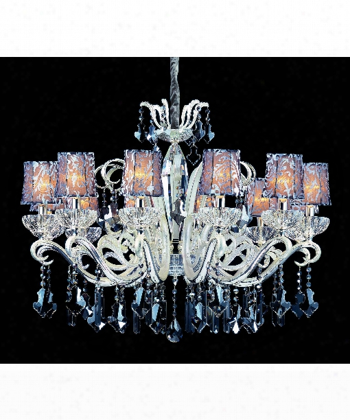 Britten 12 Light Chandelier In Two-rone Silver