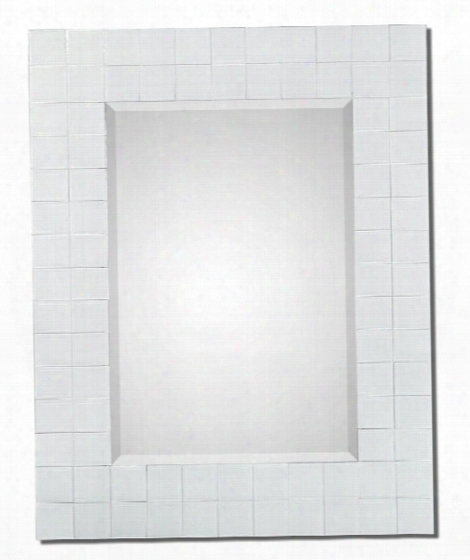 """Brooks 32"""" Wall Mirror In Gloss White"""
