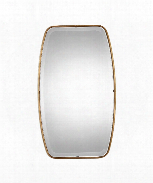 """Canillo 21"""" Wall Mirror In Antiqued Gold Leaf"""