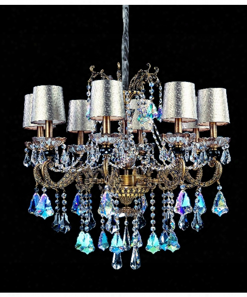 "Casella 30"" 8 Light Chandelier In Aged Bronze"