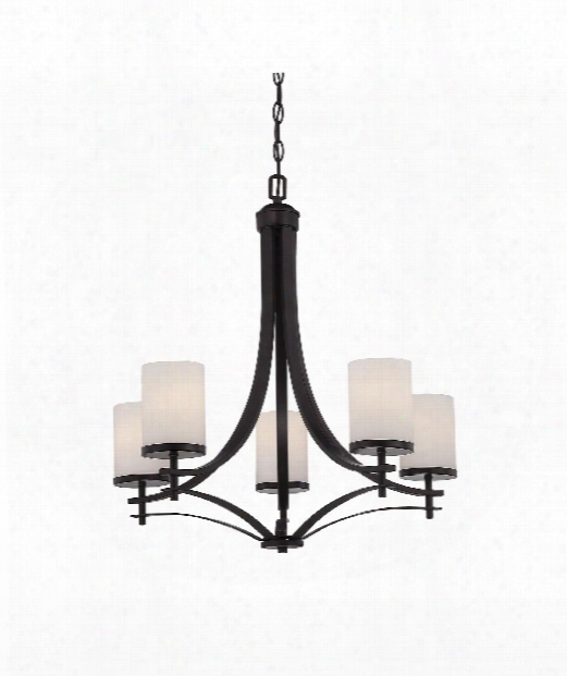"Colton 26"" 5 Light Chandelier In English Bronze"