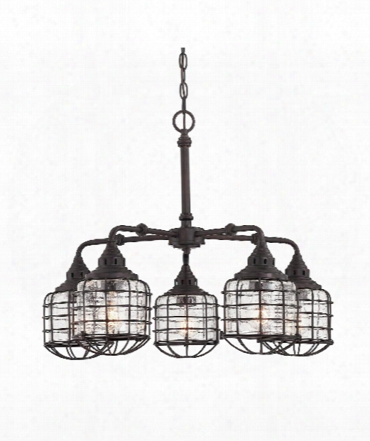 "Connell 26"" 5 Light Chandelier In English Bronze"