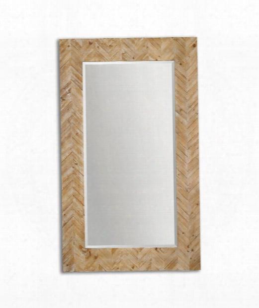 "Demetria 44"" Wall Mirror In Light Gray"