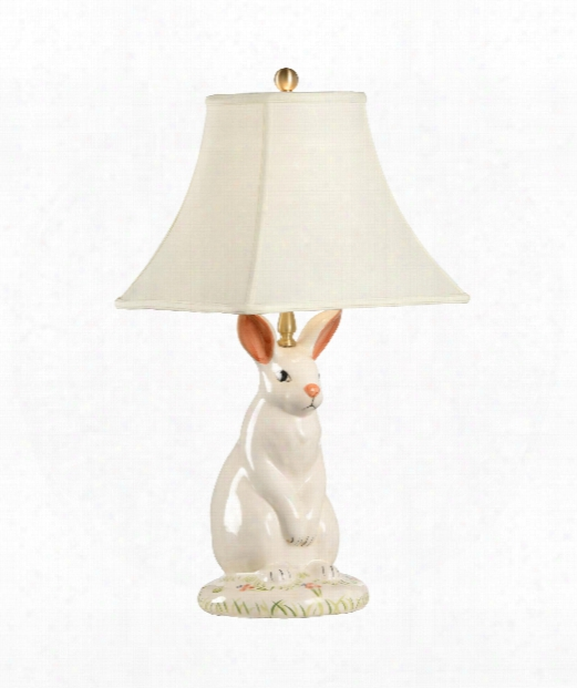 Dignified Rabbit 1 Light Table Lamp In Hand Painted Lacquer
