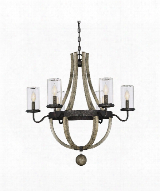 "Eden 29"" 6 Light Outdoor Hanging Lantern In Weathervane"