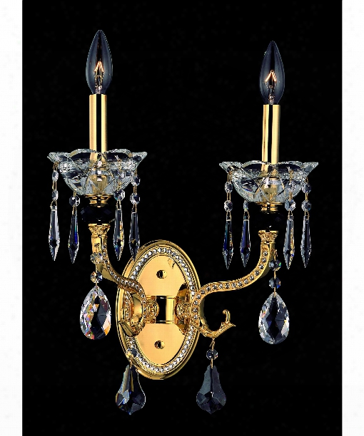 Faure 2 Light Wall Sconce In Aged Bronze