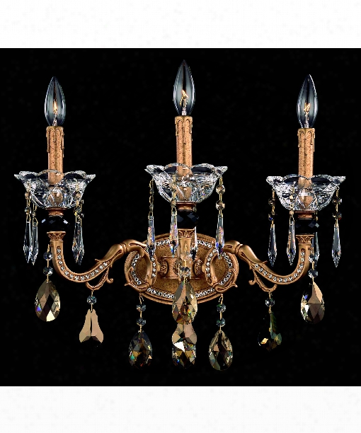 Faure 3 Light Wall Sconce In Aged Bronze