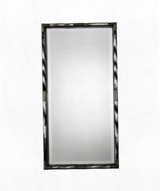 "Finnick 22"" Wall Mirror In Lightly Antiqued Silver Leaf"