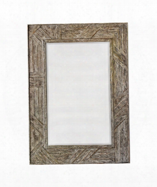 """Fortuo 32"""" Wall Mirror In Weathered Driftwood"""