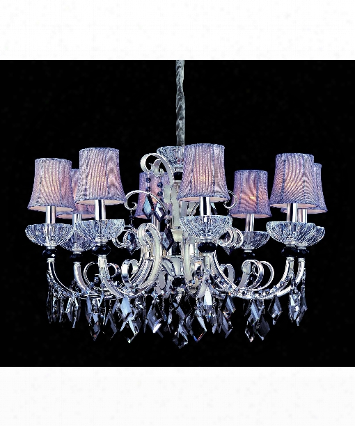 Gabrieli 8 Light Chandelier In Two-rone Silver