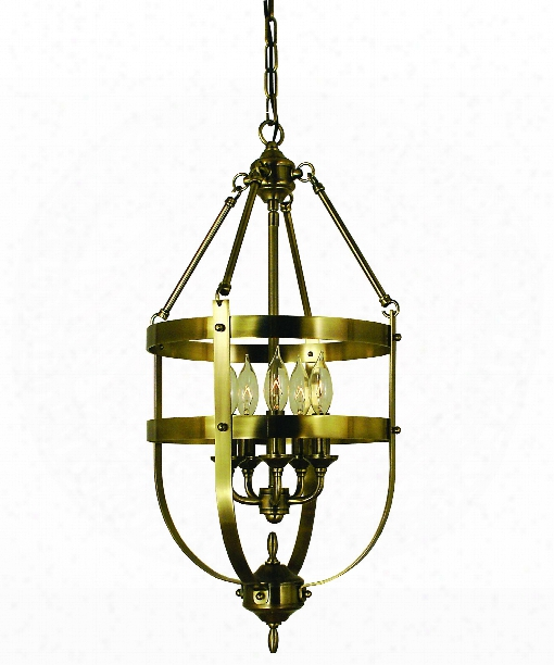 "Hannover 13"" 5 Light Foyer Pendant In Brushed Nickel"