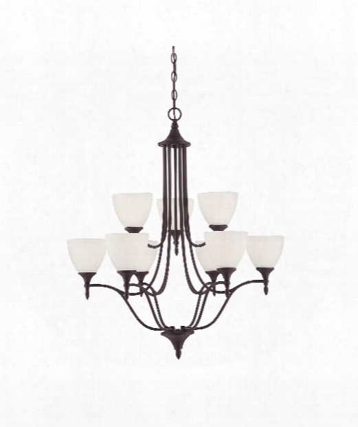"Herndon 30"" 9 Light Chandelier In English Bronze"
