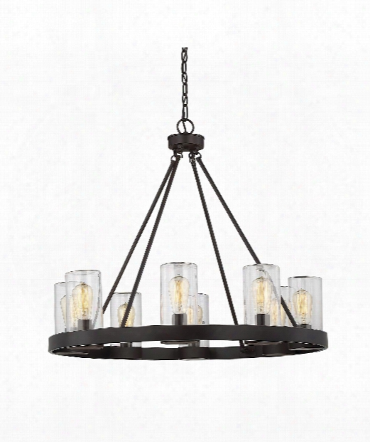 "Inman 32"" 8 Light Outdoor Hanging Lantern In English Bronze"