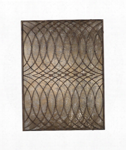 """Kanza 36"""" Alternative Wall Art In Champagne-heavily Aged Antique Bronze"""