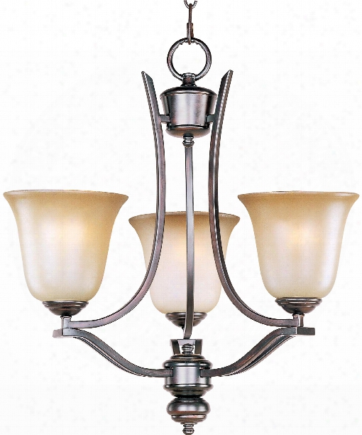 "Madera 19"" 3 Light Mini Chandelier In Oil Rubbed Bronze"