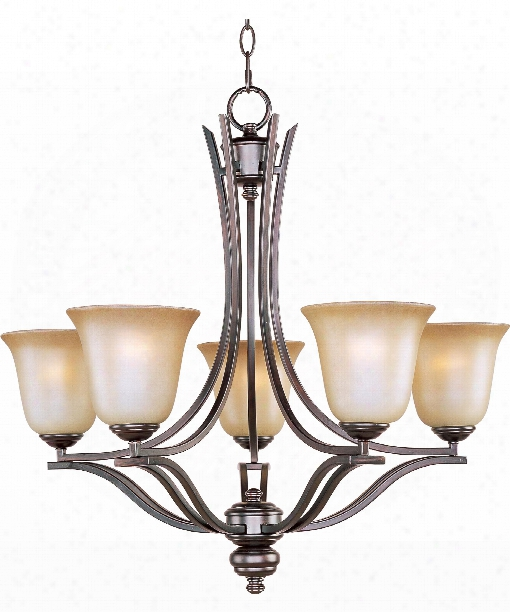 "Madera 26"" 5 Light Chandelier In Oil Rubbed Bronze"