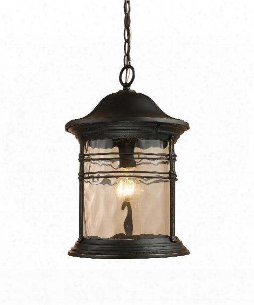 """Madison 11"""" 1 Light Outdoor Hanging Lantern In Matte Black"""