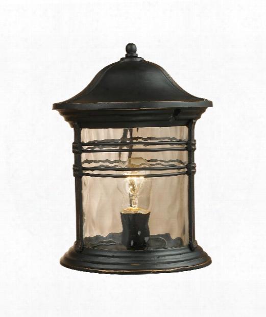 "Madison 9"" 1 Light Outdoor Outdoor Post Lamp In Matte Black"